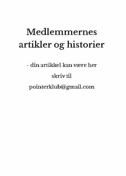 Medlemmernes artikler og historier