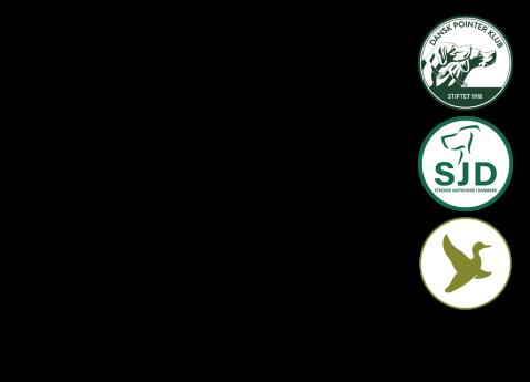 Arrangører Dansk Pointer Klub / Stående Jagthunde i Danmark (SJD) / Danmarks Jægerforbund