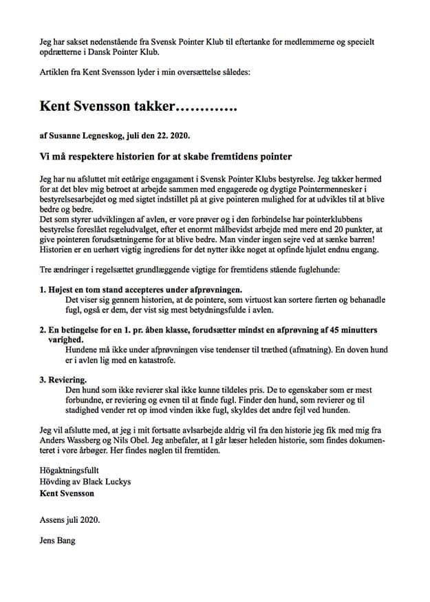Kent Svensson Takker... af: Jens Bang