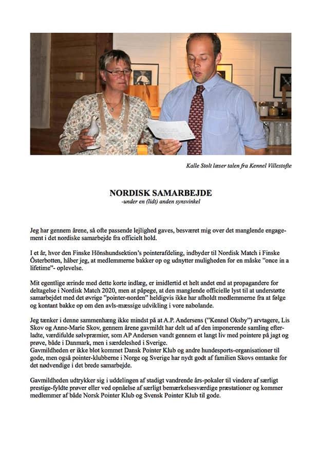 Nordisk Samarbejde af: Jens Bang