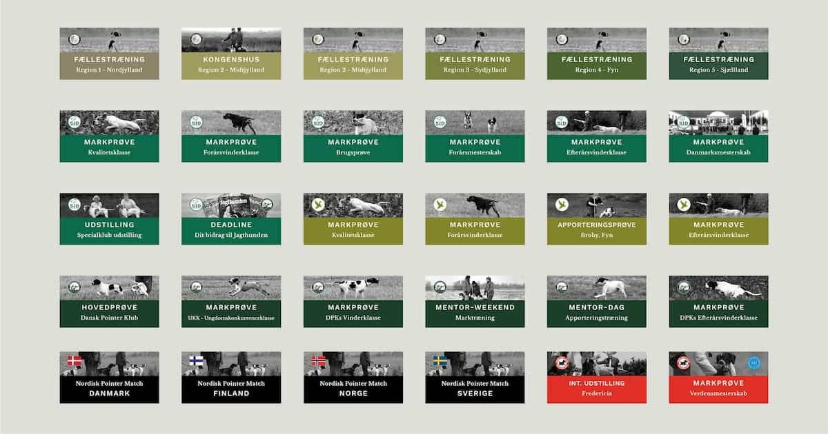 Nyt kalender look med farvekoder